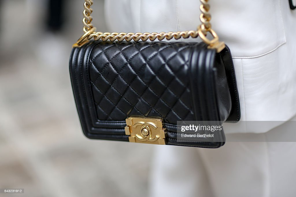 A Chanel bag is seen, before the Sean Suen show, during Paris Fashion Week Menswear Spring/summer 2017, on June 26, 2016 in Paris, France.