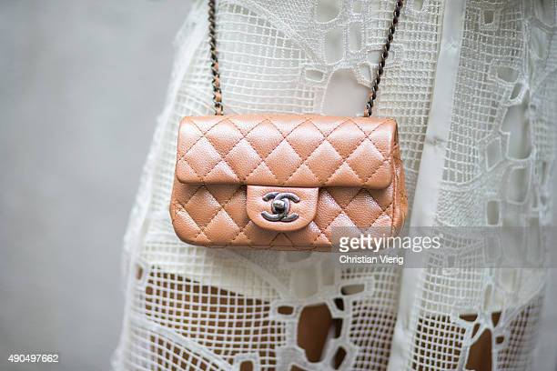 Chanel bag seen during Milan Fashion Week Spring/Summer 16 on September 27 2015 in Milan Italy