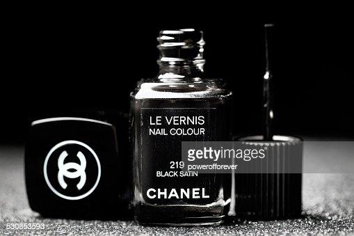 Chanel Black Satin Le Vernis Nail Polish