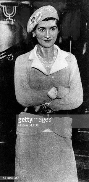 Chanel Coco *19081883Modeschoepferin Frankreich Portrait 1931