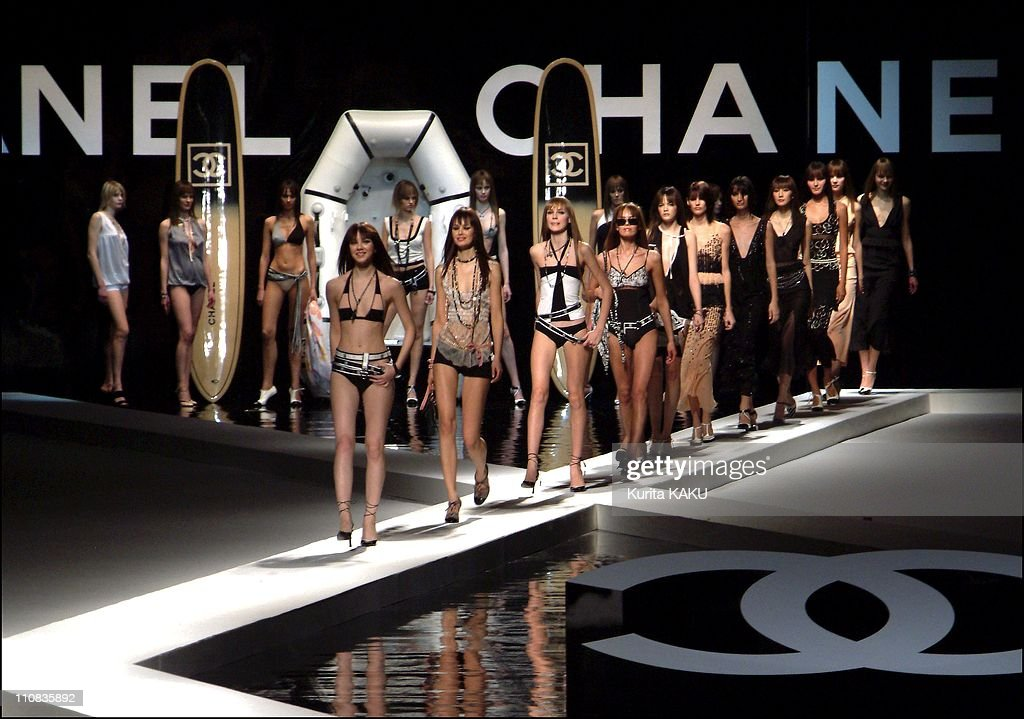 Chanel Collection Spring Summer 2003 In Tokyo, Japan On January 16, 2003 Chanel collection Spring Summer 2003 in Tokyo.