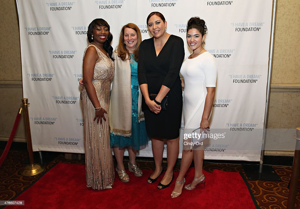 Chanel Edwards, Donna Lawrence, Alejandra Ceja and Stephanie Andujar attend the I Have A Dream Foundation 'Spirit of the Dream' Gala at Gotham Hall on June 9, 2015 in New York City.