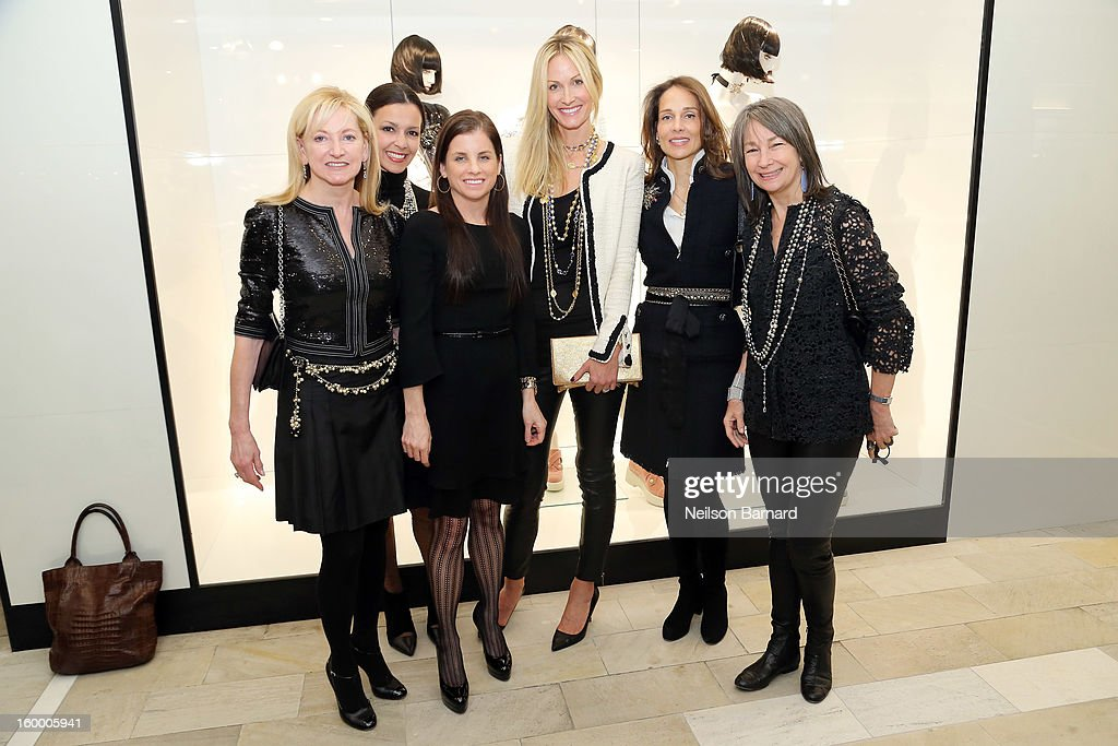Chanel EVP Barbara Cirkva, Lori Hall, Debra Perelman, Christine Mack, Marcia Mishaan and Brooke Garber Neidich attend Bloomingdale's celebration of the newly renovated Chanel RTW Boutique at Bloomingdale's 59th Street Store on January 24, 2013 in New York City.