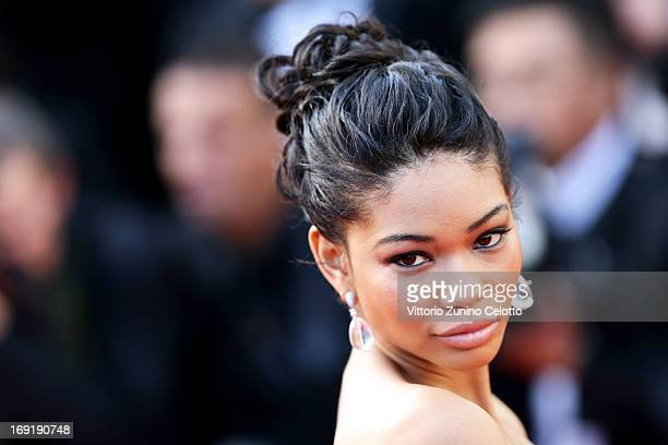Chanel Iman and attends the 'Cleopatra' Premiere during the 66th Annual Cannes Film Festival at Grand Theatre Lumiere on May 21 2013 in Cannes France