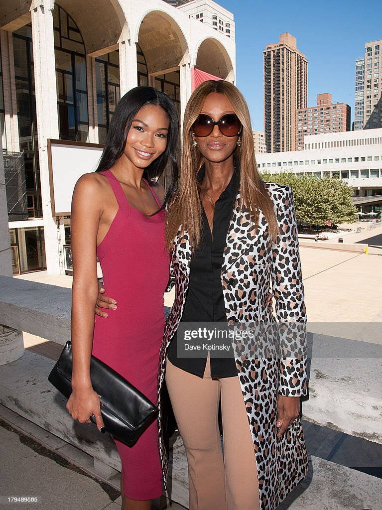 Chanel Iman and Iman (r) attends 2013 Couture Council Fashion Visionary Awards at David H. Koch Theater, Lincoln Center on September 4, 2013 in New York City.