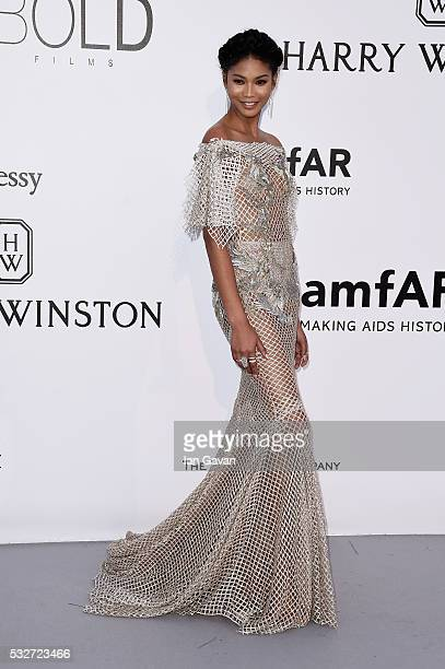 Chanel Iman arrives at amfAR's 23rd Cinema Against AIDS Gala at Hotel du CapEdenRoc on May 19 2016 in Cap d'Antibes France