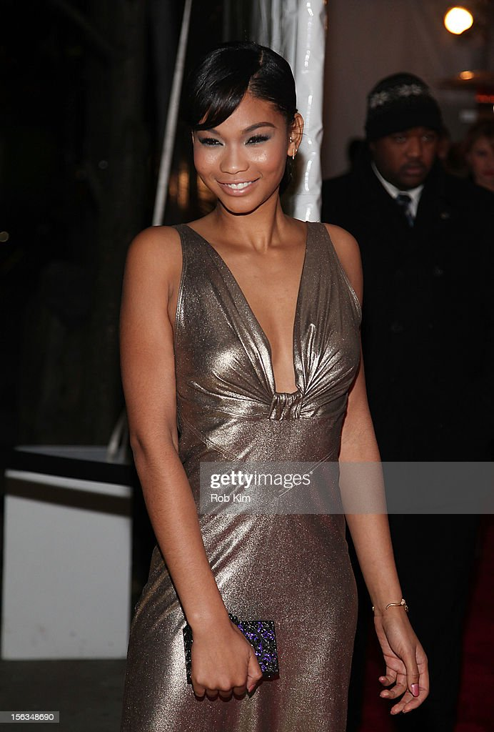 Chanel Iman arrives at The Ninth Annual CFDA/Vogue Fashion Fund Awards at 548 West 22nd Street on November 13, 2012 in New York City.
