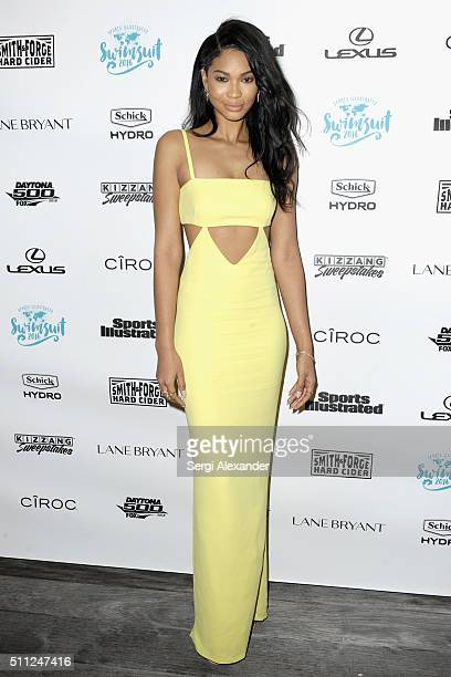 Chanel Iman attends A Night at Sea VIP Boat Cruise sponsored by Sports Illustrated Swimsuit 2016 Yacht Cruise on February 18 2016 in Miami Florida