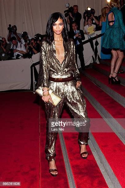 Chanel Iman attends 'American Woman Fashioning A National Identity' Costume Institute Gala at The Metropolitan Museum of Art in New York City