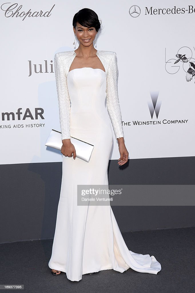 Chanel Iman attends amfAR's 20th Annual Cinema Against AIDS during The 66th Annual Cannes Film Festival at Hotel du Cap-Eden-Roc on May 23, 2013 in Cap d'Antibes, France.