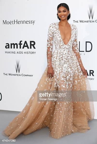 Chanel Iman attends amfAR's 22nd Cinema Against AIDS Gala Presented By Bold Films And Harry Winston at Hotel du CapEdenRoc on May 21 2015 in Cap...