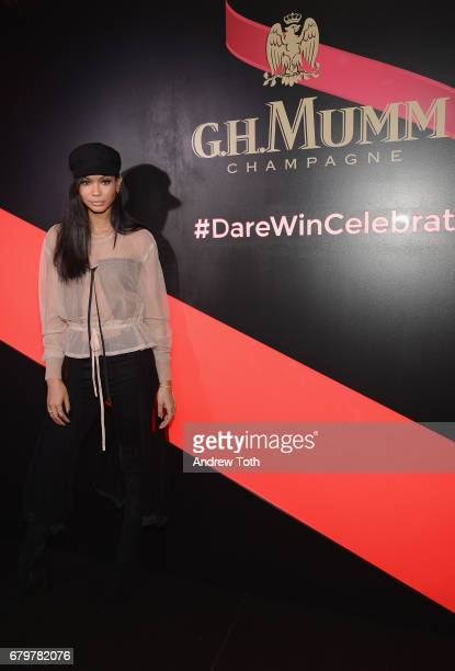 Chanel Iman attends GH Mumm and Usain Bolt's Toast to the Kentucky Derby on May 6 2017 in New York City