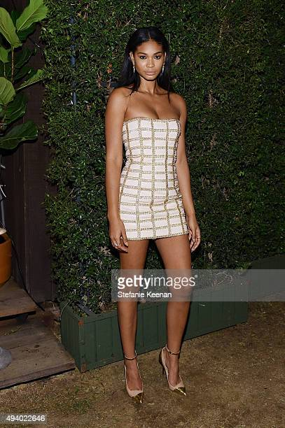 Chanel Iman attends Olivier Rousteing Beats Celebrate In Los Angeles at Private Residence on October 23 2015 in Los Angeles California