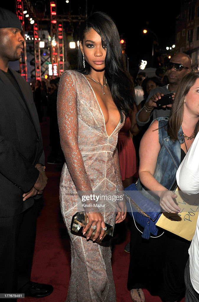 <a gi-track='captionPersonalityLinkClicked' href=/galleries/search?phrase=Chanel+Iman&family=editorial&specificpeople=2905732 ng-click='$event.stopPropagation()'>Chanel Iman</a> attends the 2013 MTV Video Music Awards at the Barclays Center on August 25, 2013 in the Brooklyn borough of New York City.