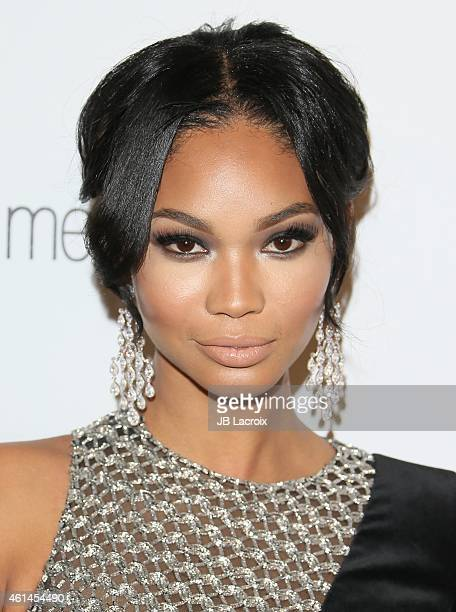 Chanel Iman attends the 2015 Weinstein Company and Netflix Golden Globes After Party at Robinsons May Lot on January 11 2015 in Beverly Hills...