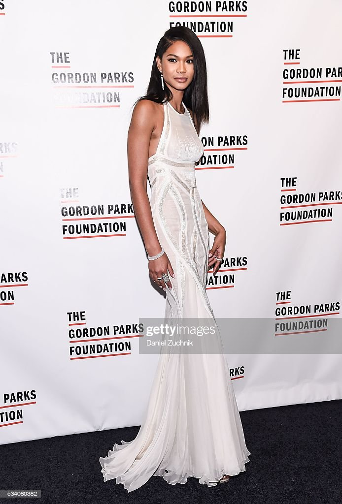 Chanel Iman attends the 2016 Gordon Parks Foundation Awards Dinner at Cipriani 42nd Street on May 24 2016 in New York City
