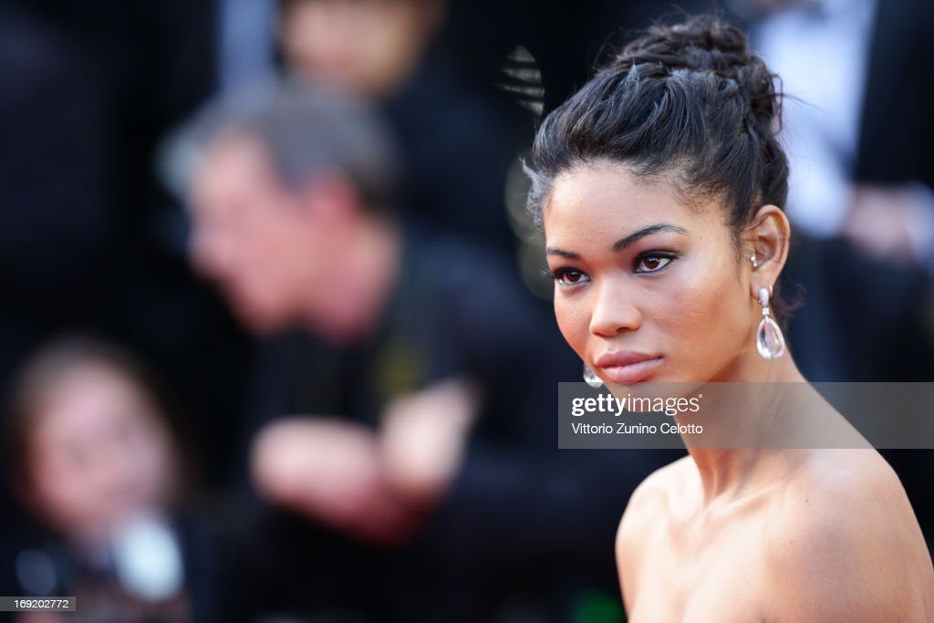 Chanel Iman attends the 'Cleopatra' premiere during The 66th Annual Cannes Film Festival at The 60th Anniversary Theatre on May 21, 2013 in Cannes, France.
