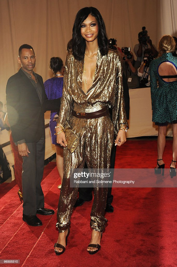 Chanel Iman attends the Costume Institute Gala Benefit to celebrate the opening of the 'American Woman: Fashioning a National Identity' exhibition at The Metropolitan Museum of Art on May 8, 2010 in New York City.