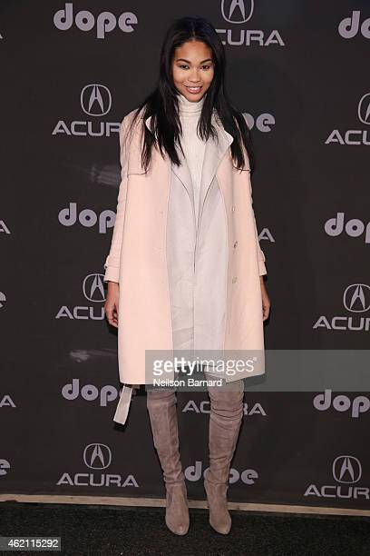 Chanel Iman attends the 'Dope' after party at The Acura Studio on January 24 2015 in Park City Utah