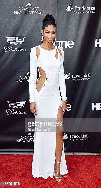 Chanel Iman attends the 'Dope' Opening Night Premiere at the 2015 American Black Film Festival at SVA Theater on June 11 2015 in New York City