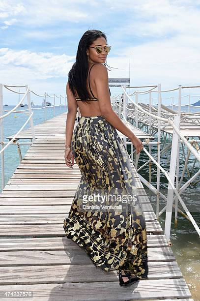 Chanel Iman attends the launch of the new 'Fendi By Karl Lagerfeld' Book during the 68th annual Cannes Film Festival on May 21 2015 in Cannes France