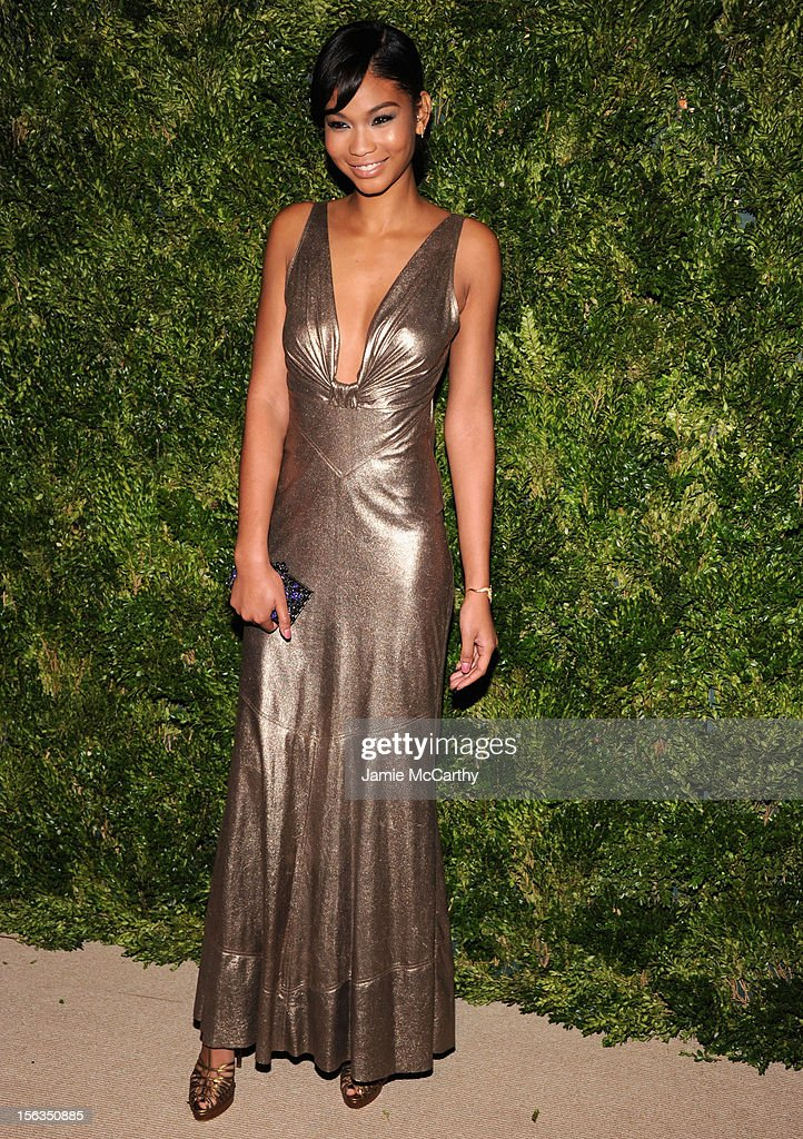 Chanel Iman attends The Ninth Annual CFDA/Vogue Fashion Fund Awards at 548 West 22nd Street on November 13, 2012 in New York City.