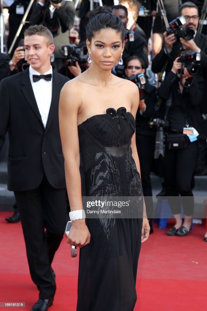 Chanel Iman attends the Premiere of 'Cleopatra' during the 66th Annual Cannes Film Festival at the Palais des Festivals on May 21, 2013 in Cannes, France.