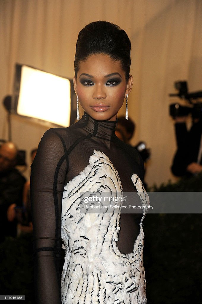 Chanel Iman attends the 'Schiaparelli And Prada: Impossible Conversations' Costume Institute Gala at the Metropolitan Museum of Art on May 7, 2012 in New York City.