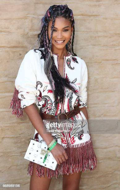 Chanel Iman attends The Zoe Report's ZOEasis on April 15 2017 in Palm Springs California
