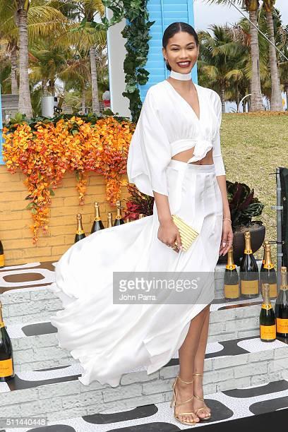 Chanel Iman attends Veuve Clicquot Hosts SecondAnnual Clicquot Carnaval in Miami at Museum Park on February 20 2016 in Miami Florida