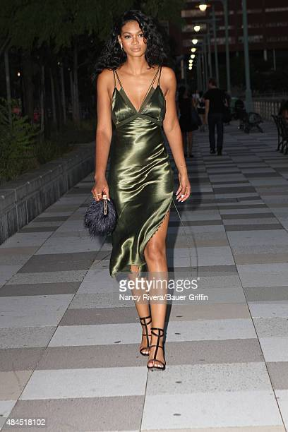 Chanel Iman is seen on August 18 2015 in New York City
