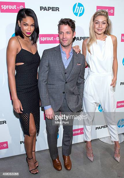 Chanel Iman Nate Berkus and Gigi Hadid attend the Paper Magazine New Technology Launch at Center 545 on October 29 2014 in New York City