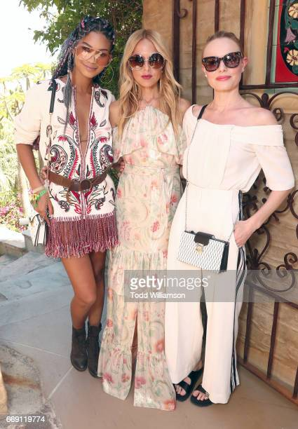 Chanel Iman Rachel Zoe and Kate Bosworth attend The Zoe Report's ZOEasis on April 15 2017 in Palm Springs California