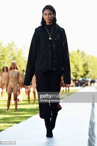 Chanel Iman walks the runway at the Kanye West Yeezy Season 4 fashion show on September 7 2016 in New York City