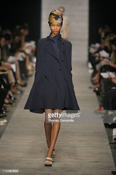 Chanel Iman wearing Derek Lam Spring 2007 during Olympus Fashion Week Spring 2007 Derek Lam Runway at Private Studio in New York City New York United...