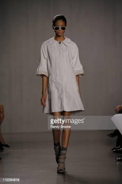 Chanel Iman wearing Proenza Schouler Spring 2007 during Olympus Fashion Week Spring 2007 Proenza Schouler Runway at Milk Studios in New York City New...