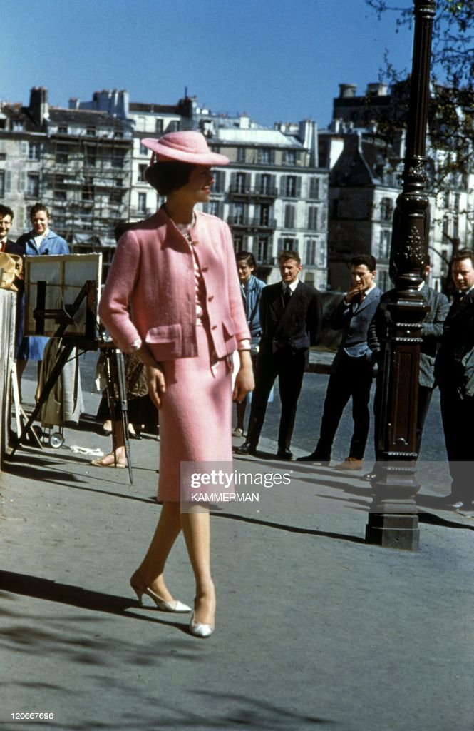 Chanel in Paris, France in 1960 - Chanel fashion in the sixties.