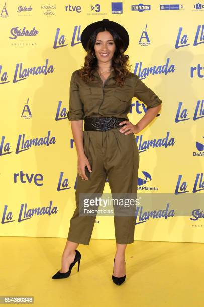 Chanel Terrero attends the 'La Llamada' premiere yellow carpet at the Capitol cinema on September 26 2017 in Madrid Spain