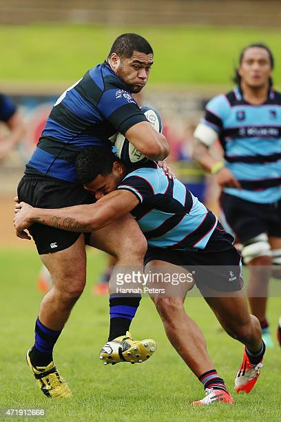 Chanel Vito of Ponsonby charges forward during the club rugby game between Ponsonby and Marist at Western Springs Stadium on May 2 2015 in Auckland...