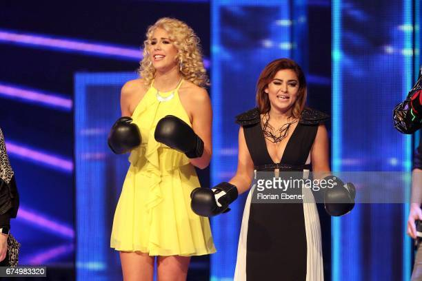 Chanelle Wyrsch and Maria Voskania during the fourth event show and semi finals of the tv competition 'Deutschland sucht den Superstar' at Coloneum...