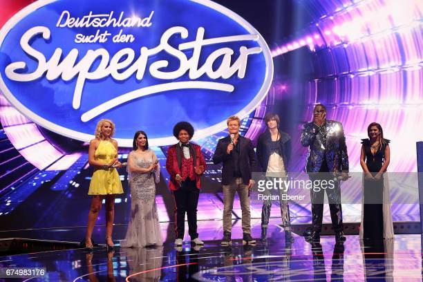 Chanelle Wyrsch Duygu Goenel Noah Schaerers Oliver Geissen Alexander Jahnke Alphonso Williams and Maria Voskania during the fourth event show and...