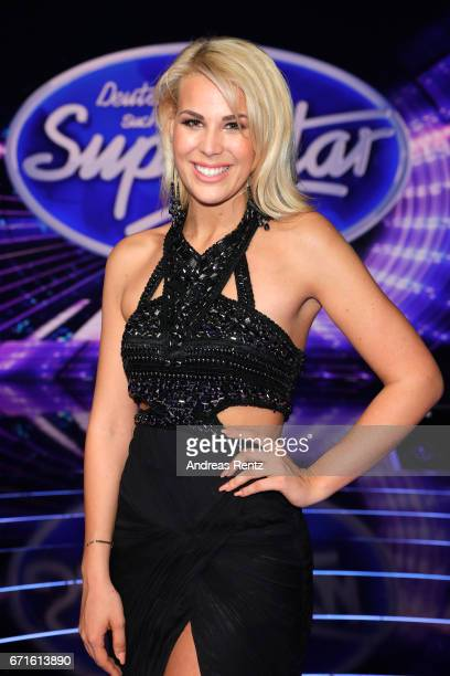 Chanelle Wyrsch poses after the third event show of the tv competition 'Deutschland sucht den Superstar' at Coloneum on April 22 2017 in Cologne...
