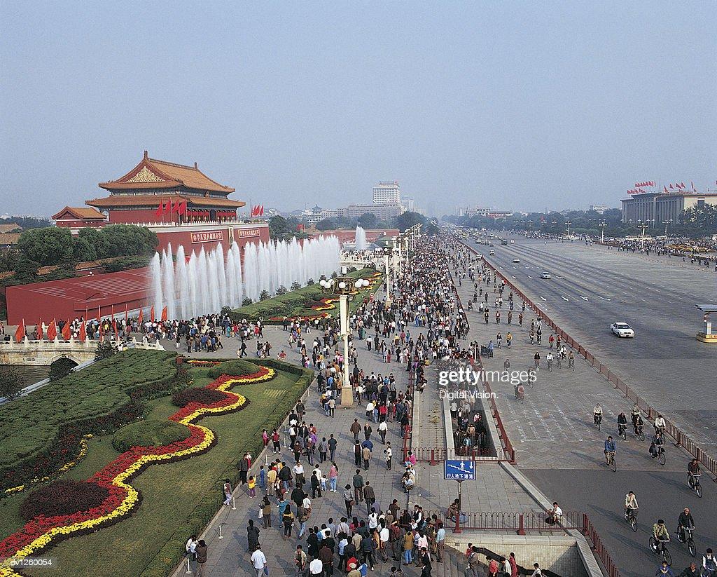 Chang An Street, Tiananmen, Beijing, China : Stock Photo
