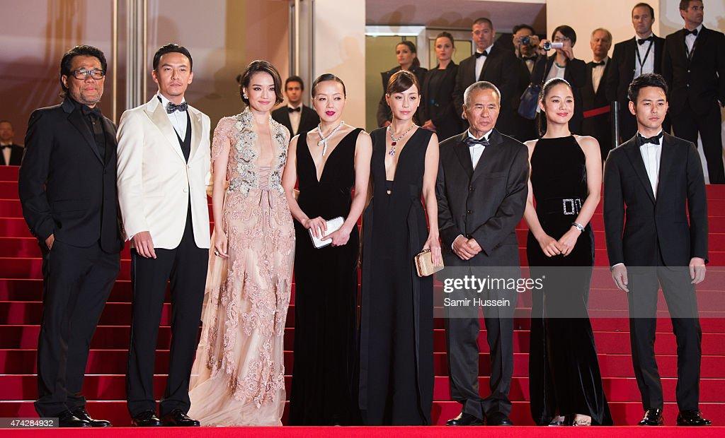 Chang Chen Shu Qi Sheu FangYi Hsieh HsinYing Hou HsiaoHsien Zhou Yun and Satoshi Tsumabuki attend the 'Nie Yinniang' Premiere during the 68th annual...