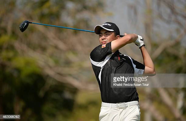 Chang Yaopin of Chinese Taipei in action during round four of the Asian Tour Qualifying School presented by Sports Authority of Thailand at the...