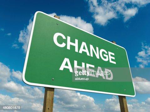 change ahead : Stock Photo