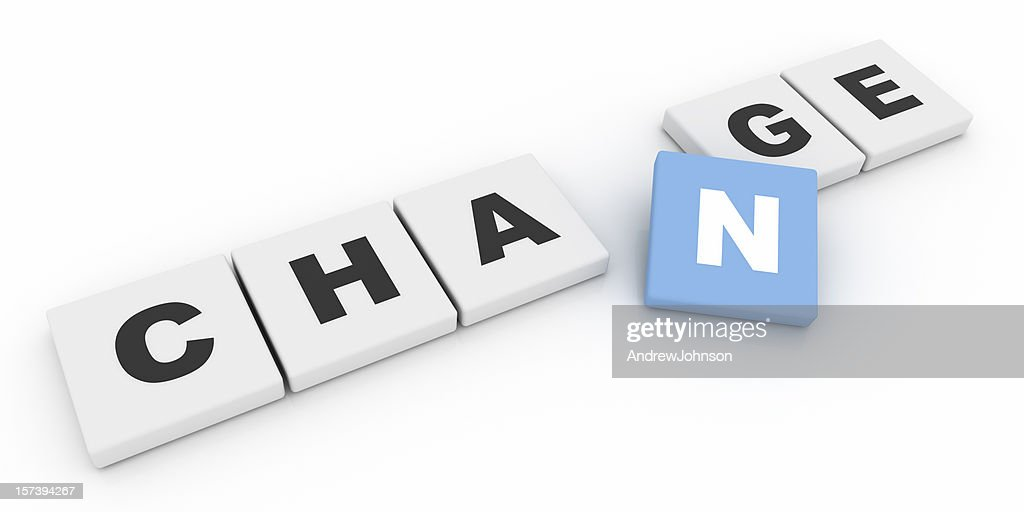 Change Letters : Stockfoto