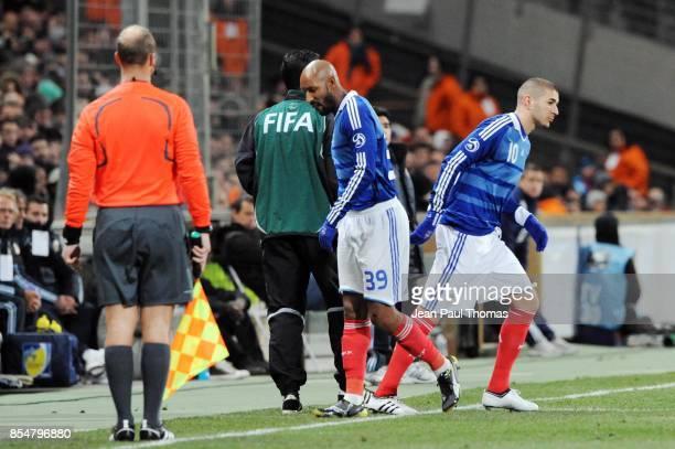 Changement Nicolas ANELKA / Karim BENZEMA France / Argentine Match Amical Stade Velodrome de Marseille