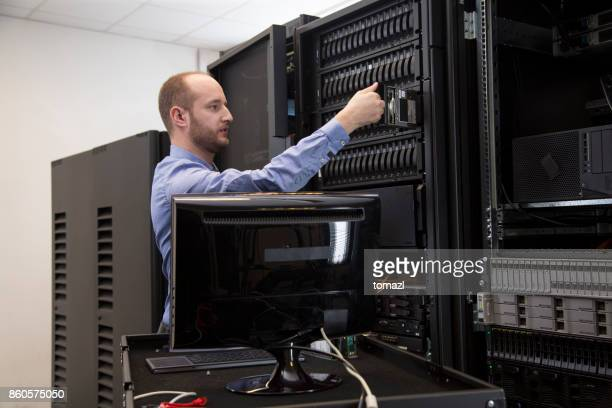 Changing drive in server installation in large datacenter