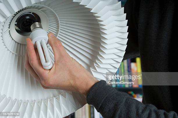 Changing Lamps To A  Low Energy Lightbulb